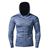 SKYSPER Fitness Funktionsjacken Sport Running Jacken Mäntel Westen Winterjacke Sportbekleidung Workout Pullover mit Kapuze Quick Dry