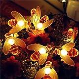 WANGJUNXIU LED De Lumières, 100-200 LED 12-22m Honeybee Plug-in Guirlande Lumineuse Extérieure Intérieure Étanche IP65 For Jardin Maison De Vacances Paysage Party Décorations De Mariage D'illumination...