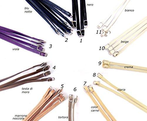 Cinturino universale in pelle per scarpe da donna modello decolletè, Colore: Col 7, color carne