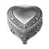 RMXMY Mode romantische herzförmige geprägte Legierung Uhrwerk Spieluhr mechanische Junge Metall Octave zu senden Freundin Geschenk bevorzugt