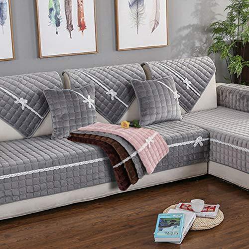 """Gh&yy copridivano con penisola chaise longe divano protector mobili coperture su due lati per cani/gatti letto con divano slipcovers,gray,110 * 240cm(43 * 94"""")"""