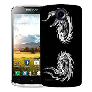 Snoogg Abstract Grey Eyes Designer Protective Back Case Cover For LENOVO S920