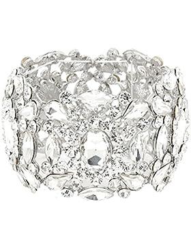 Schmuckanthony Abend Hochzeit ABI Ball Luxus Armband Bracelet Stretch Elastic Kristall Klar Transparent 5,3 cm...