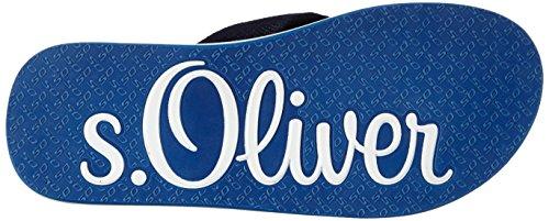 s.Oliver 17106, Tongs homme Bleu - Blau (NAVY/TURQUOISE 880)
