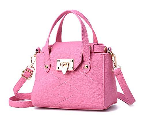 Keshi Pu Cool Damen Handtaschen, Hobo-Bags, Schultertaschen, Beutel, Beuteltaschen, Trend-Bags, Velours, Veloursleder, Wildleder, Tasche Pink