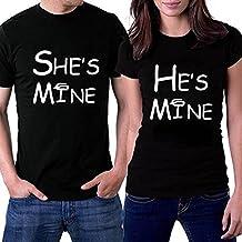 Venmo Pareja Camisetas Casual Manga Corta Parejas Camisas Para Él y Su,Parejas, Aniversario, Recién Casados Juego de Camisetas