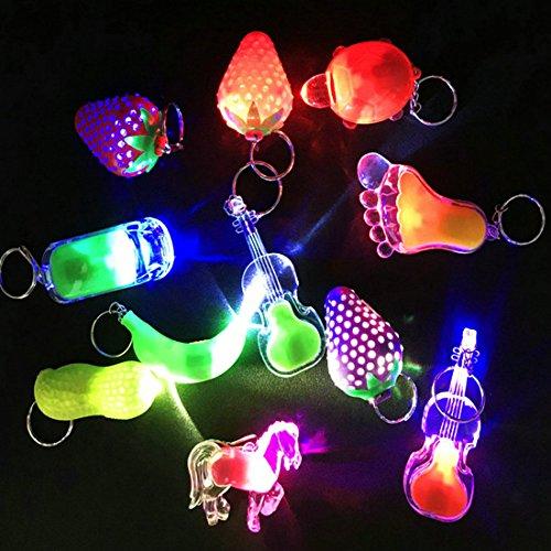 Zcoins 12 Stück Mini Taschenlampe Toy Beleuchtung Schlüsselkette Great für Return Geschenke Lichter Party Bag Füllstoffe