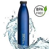 720°DGREE Edelstahl Trinkflasche milkyBottle- 750ml, 0,75l | Isolierflasche Schmal | Thermosflasche Auslaufsicher | Perfekte Outdoor Thermoskanne für Kinder, Schule, Sport, Training, Fitness, Gym