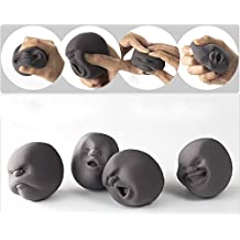 EQLEF® 1pcs divertido de la novedad del regalo japonesa Gadgets humano del respiradero de la cara de la bola anti estrés perfumado Geek Vent adminículo del juguete del juguete Caomaru