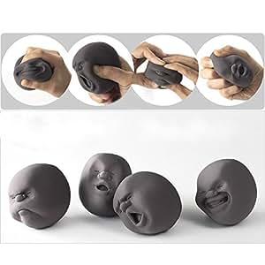 EQLEF® 1pcs drôle de nouveauté japonaise Cadeau Gadgets Vent humain Visage Balle Anti Stress Scented Caomaru Toy Geek Gadget Vent Toy