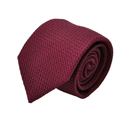 Segni & Disegni - Cravate en Grenadine de Soie 'grosso'. Bordeaux