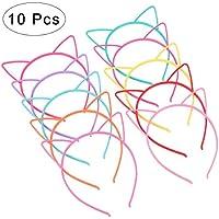 Frcolor 10 diademas con orejas de gato de plástico, disfraces o fiestas, mujeres y