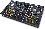 Numark Party Mix - Controlador de DJ plug-and-play de 2 canales para Serato DJ Lite con tarjeta de sonido inco