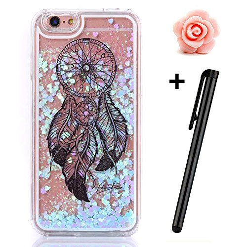 iPhone 6S Plus Hülle,iPhone 6 Plus/6S Plus Hülle Case,TOYYM 3D Kreativ Design Dynamisch Fließen Flüssig Handyhülle PC Hardcase Hüllen für Apple iPhone 6 Plus/6S Plus 5.5inch,Glitter Glitzer Sparkle Ha Dreamcatcher#15