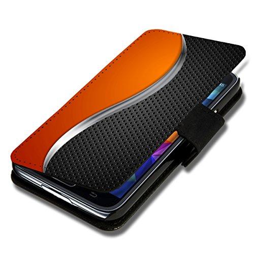 Book Style Flip Handy Tasche Case Schutz Hülle Schale Motiv Foto Etui für Wiko Ridge Fab 4G - X3 Design6