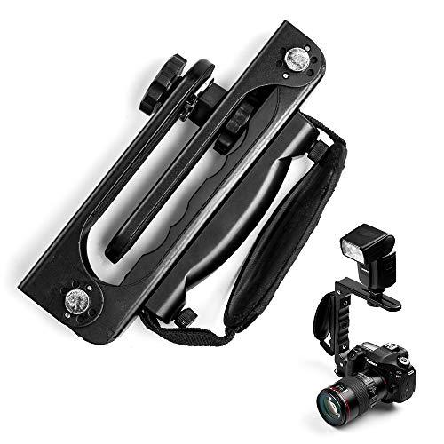 Fotover Quick Flip Klappkamera Blitzhalterung Blitzschiene mit 1/4'Stativgewinde mit Gewinde kompatibel Canon Nikon Sony Nikon DSLR-Kameras