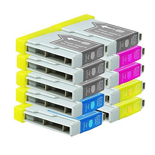 10 Druckerpatronen Tinte für Brother DCP130C DCP135C DCP330C MFC260C MFC440CN ersetzen LC970 LC1000 -