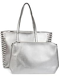 87772dcbc05 styleBREAKER XXL Shopper Taschen Set mit Perlen Verzierung, Handtasche, Bag  in Bag, Schultertasche, Damen…