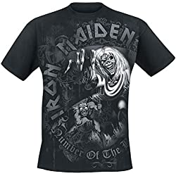 Iron Maiden Number of The Beast Grey Tone Camiseta Negro