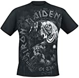 Iron Maiden Number of The Beast Grey Tone Camiseta Negro M
