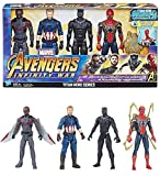 Marvel 1202129 Avengers Titan Hero Series 4 Pack, Multi