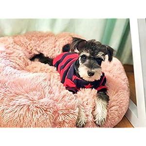 Hioowiu Warme Fleece Hundebett Runde Pet Lounger Kissen für kleine, mittelgroße Hunde Katze Winter Hundehütte Welpen Mat Rosa_60cm