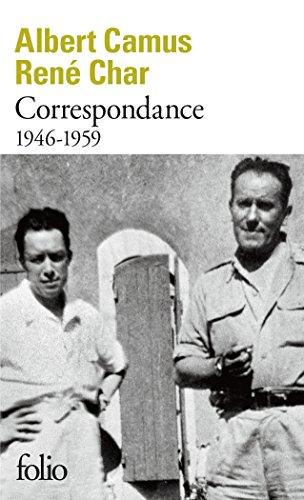 Correspondance: (1946-1959) par René Char