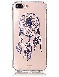 """inShang iphone 7 Plus Funda Case de 5.5"""" [funda para iPhone de Transparente] [ 3D imagen con la tecnología de broncea], la cubierta protectora conveniente estilo nuevo case cover para el iPhone 7 Plus"""