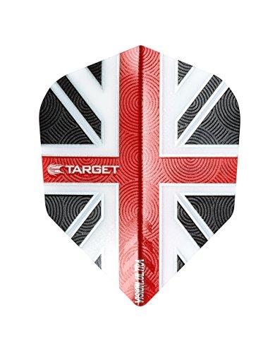 5Sets of Target Vision Ultra Union Jack Dart Flights–2016–Standard Form–5Farben, rot