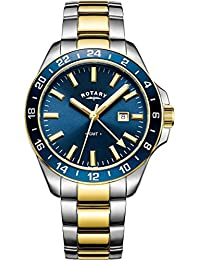 14980ef6462e Rotary GB05082 05 Men s Quartz Two Tone Stainless Steel Bracelet Watch