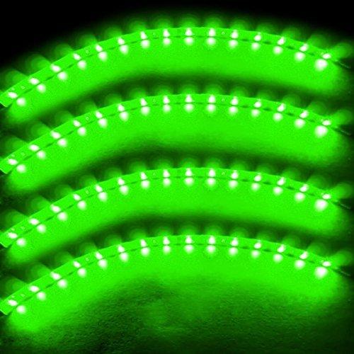 Preisvergleich Produktbild Zento Deals 30cm grün LED Auto flexible Light Strip Wasserdicht 4Stück
