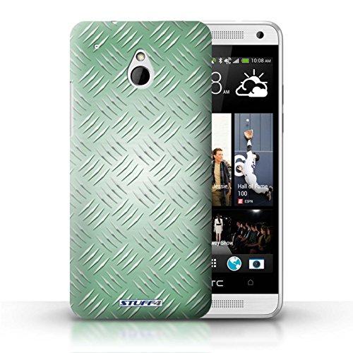 Kobalt® Imprimé Etui / Coque pour HTC One/1 Mini / Argent conception / Série Motif en Métal en Relief Vert