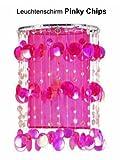 Bella-Vita Dapo Schirm Pinky Chip Farbe pink trendiger Leuchtenschirm aus hochwertigem Kunststoff Teilen und Organza Stoff