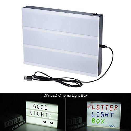 Aibecy Tamaño A4 DIY LED Cinema Light Box Tablero