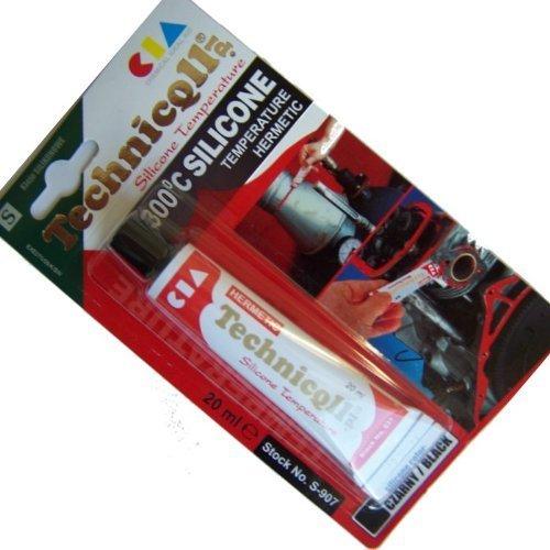 black-high-temperature-silicone-adhesive-sealant-20ml-heat-resistant-300c-new