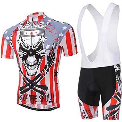 Wylang Unisex Maglia Ciclismo Abbigliamento Jerseys Manica Corta+ Pantaloni corti