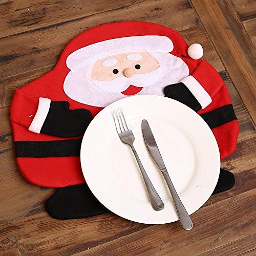 ion Weihnachten Weihnachtsschmuck Restaurant Hotel kreativen Haushalt Elemente Tabelle Matte Ornament Stoff Cutle Ry-Matte ()