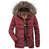 Mantel Herren Winter,ABsoar Jacke Herbst Winter Winterjacke Männer Slim Mäntel Langarm Dicker Mantel Warm Hooded Outwear Daunenmantel Winddicht Coat