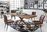 Sit Möbel Tische Tisch 220x100 cm, Balkeneiche Natur geölt Platte Balkeneiche, Gestell Eisen L = 220 x B = 100 x H = 76,5 cm Platte Natur, Gestell antikbraun