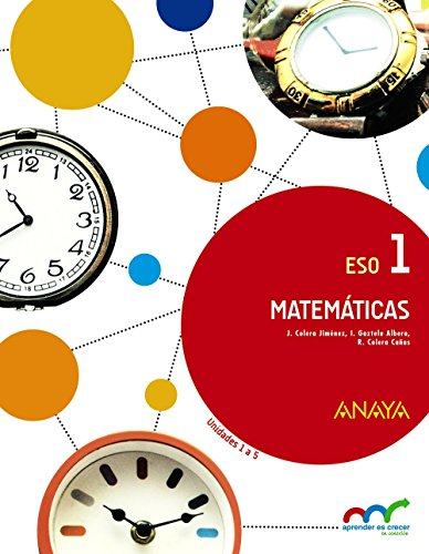 Matemáticas 1. (trimestre 1, 2, 3) - 9788467850734 por José Colera Jiménez
