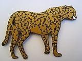 alles-meine.de GmbH Gepard 9,1 cm * 6,1 cm Bügelbild Leopard RaubKatze Afrika Tier Aufnäher Applikation Patch