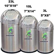 Parasnath Stainless Steel Push Can Dustbin/Stainless Steel Garbage Bin