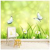 azutura Schmetterling Fototapete Gänseblümchen Tapete Mädchen Kinderzimmer Dekor Erhältlich in 8 Größen Riesig Digital