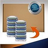 Gillette Fusion5 ProGlide Power Lames de rasoir, 8 pièces, emballage compatible boîte aux lettres