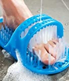 SRB Plastic Blue Waterproof Foot Cleaner Shower Slipper for All Age groups