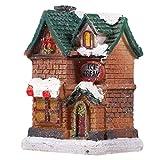 STOBOK Kerst Dorpshuis Met Led-Licht Verlicht Gebouw Tafelblad Kerstdorp Decoratie Xmas Beeldje Vakantie Decoratie