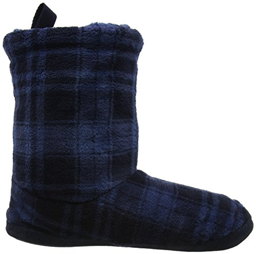Joules Homestead, Pantofole a Stivaletto Uomo Blu (Multicoloured Large Navy Check)