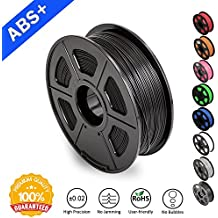 ABS Filaments for 3D Printer-SUNLU ABS Filament 1.75 mm,Low Odor Dimensional Accuracy +/- 0.02 mm 3D Printing Filament,2.2 LBS (1KG) Spool 3D Printer Filament for 3D Printers & 3D Pens