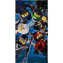 Lego Ninjago Niños Toalla Diseño Battle 70x 140cm-strandlaken-Playa-Toalla de mano-100% algodón-Cole-Jay-Kai-Lloyd-Zane-Nya-Misako-Sensai WU a juego con la ropa de cama