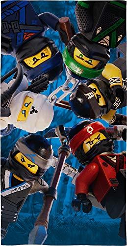 Passende Bettwäsche (Lego Ninjago Kinder Badetuch Motiv Battle 70 x 140 cm - Strandlaken - Strandtuch - Handtuch - 100% Baumwolle - Cole - Jay - Kai - Lloyd - Zane - NYA - Misako - Sensai Wu passend zur Bettwäsche)